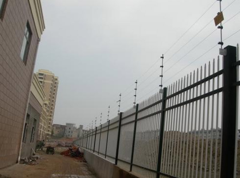 Electronic fence of a detention center